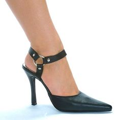 4 Inch Heel Pump Women'S Size Shoe With O-Ring Detailed Ankle Strap And Pointed Toe $29.43