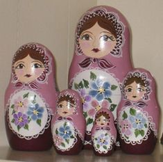 Russian Nesting Dolls Painted with our Blank Nesting Dolls: Cust