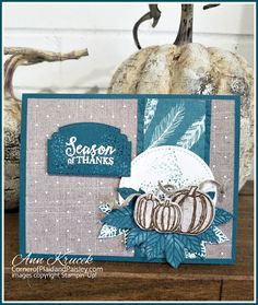 Stampin' Up! Fall Card -Gather Together Fall Cards, Christmas Cards, Christmas 2019, Holiday Cards, Halloween Cards, Fall Halloween, Stamping Up Cards, Thanksgiving Cards, Homemade Cards