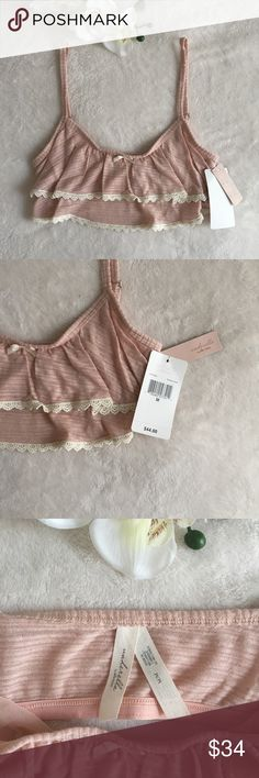 cute rose bralette brand new rose colored bralette with cream colored lace on the bottom. Ella Moss Intimates & Sleepwear Bras