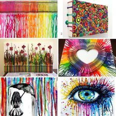 melted crayon art - Google Search