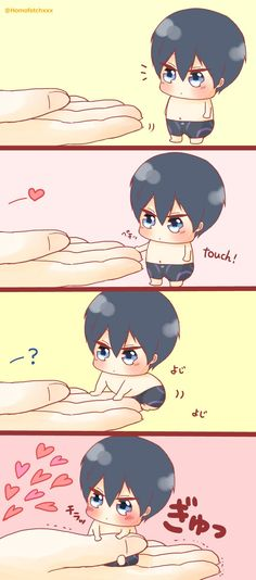 The let out of the bottle Haru finally allows itself to be touched ...  From Homofetchxxx ... Free! - Iwatobi Swim Club, haruka nanase, haru nanase, haru, nanase, haruka, free!, iwatobi