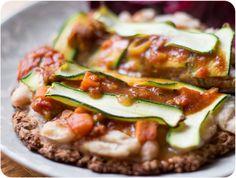 Bean and zucchini tikka pizza!