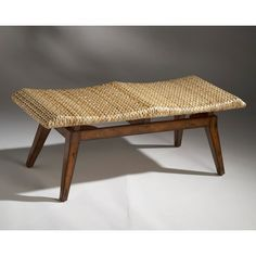 Butler Designer's Edge Bench with Woven Seagrass Cushion - 1215035