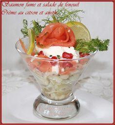 LA TABLE LORRAINE D'AMELIE: Saumon fumé et salade de fenouil, crème au citron et aneth