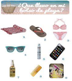 ¿Que llevas en tu bolso de playa?