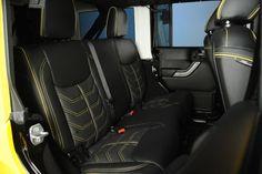 "Custom ""Yellow Jacket"" 2014 Jeep Wrangler Unlimited: Custom Leather"