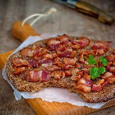 Finnish Rye Flat Bread with Bacon