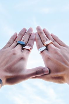 Every man needs to own these edgy rings by MISTER.