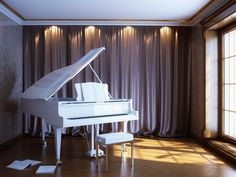 Always been a dream of mine to own a white grand piano. It's going to be the first thing I buy for my first home.
