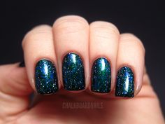 Chalkboard Nails: Spacey Layering Experiment