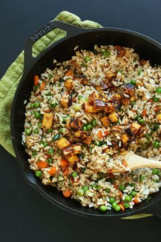 Vegan Fried Rice with Crispy Tofu from @minimalistbaker