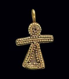 (Phoenicia) A Phoenician Gold tanit Pendant.
