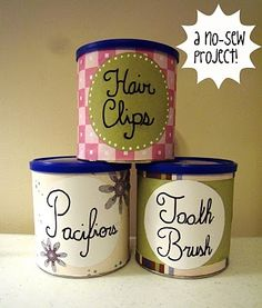 Trash to treasure: turn snack cans into storage containers