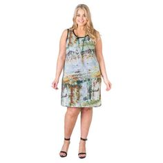 PRE-ORDER - Landscape print front shift dress (BLACK) $69.95 http://www.curvyclothing.com.au/index.php?route=product/product&path=95_104&product_id=6734