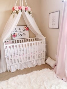 Aulora Canopy - Serene Floral Crib Canopy // Bed Crown // Nursery Decor // Teepee // Baby Shower Decoration or Gift - Baby room -