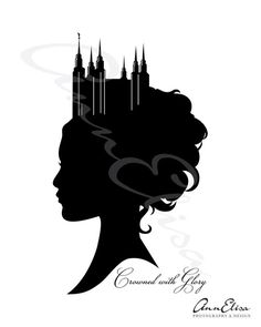 Crowned with Glory Young Woman Sihlouette by AnnElisaPhotoDesign, $5.00