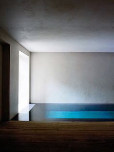 Beautiful light in this indoor pool in the basement of a 19th century house renovated by Rose Uniacke.