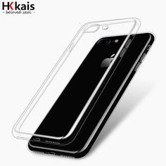 Hkkais voor apple iphone 6 7 case slim crystal clear tpu silicone beschermende coque voor iphone 7 4 5 s 5 se 6 6 s plus cover gevallen