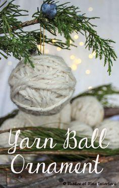 How to make a yarn barn ornament using any ball.