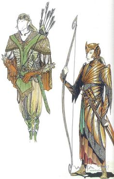 concept art of Mirkwood Elves...