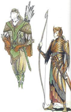 concept art of Mirkwood Elves...