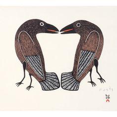 Love Birds - Kenojuak Ashevak