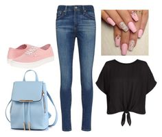 """""""End of School"""" by djg-87 ❤ liked on Polyvore featuring AG Adriano Goldschmied, New Look and Vans"""