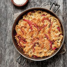 Fusilli with Three Cheeses and Red Bell Pepper    #dinner #cheese #pasta #noodles #comfort