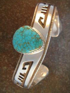 Sterling & Turquoise Cuff Bracelet by Dina Huntinghorse - Rewards