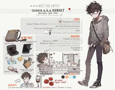 Meet The Artist meme Character Concept, Character Art, Character Design, Character Outfits, Anime Chibi, Anime Art, Drawing Reference, Drawing Tips, Drawing Skills
