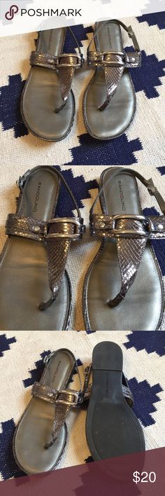Bandolino Strap Sandals Gray snake skin style sandals. They don't show a size but they fit like an 8. EUC. Bandolino Shoes Sandals