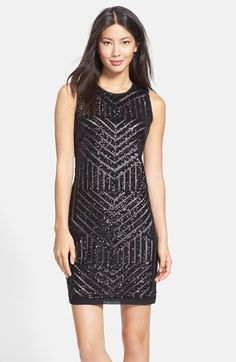 Vince+Camuto+Sequin+Sheath+Dress+available+at+#Nordstrom
