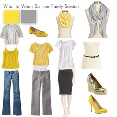 What to Wear: Summer Photo Session (for her)