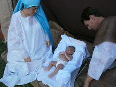Nacimiento. Pesebre viviente en Capilla Nuestra Señora de Lourdes