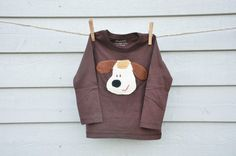 "Bio-Häkelshirt ""Hund""/Shirt ""Doggy"" - 3-4 Jahre von KingulY© KreativWerkstatt auf DaWanda.com Kanken Backpack, Shirts, Backpacks, Tops, Fashion, Dog Shirt, Creative, 4 Years, Moda"