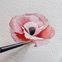 40 Very Easy Watercolor Painting Ideas For Beginners Watercolour Tutorials, Watercolor Techniques, Drawing Techniques, Watercolor Cards, Watercolor Flowers, Watercolor Paintings, Watercolors, Easy Watercolor, Botanical Art