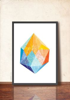 Awesome Etsy listing at https://www.etsy.com/pt/listing/224773646/geometric-art-poster-gem-art-print-jewel