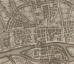 Quatrième plan de la ville de Paris, son accroissement et l'etat ou elle étoit sous le regne de Philippe Auguste qui mourut l'an 1223 aprs avoir regné 43 ans / Par M.L.C.D.L.M. ; A. Coquart del. et sculp.