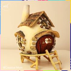 Movie Night Ideas Discover FAIRY HOUSE Make this enchanting DIY fairy house and let your imagination wander for the upcoming holidays ! Diy Crafts Hacks, Diy Crafts For Gifts, Diy Home Crafts, Diy Arts And Crafts, Clay Crafts, Fairy House Crafts, Clay Fairy House, Doll House Crafts, Fairy Houses Kids