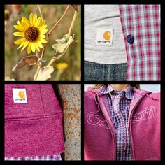 Carhartt Women's Country Plaid Shirt and Graphic Hoodie Sweatshirt