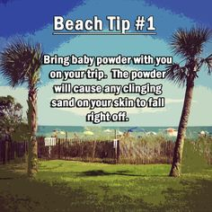 Near the Myrtle Beach Convention Center Beach Tip! Bring baby powder with you on your next trip to the beach.Beach Tip! Bring baby powder with you on your next trip to the beach. Myrtle Beach Resorts, Myrtle Beach Vacation, Beach Trip, Beach Travel, Myrtle Beach Things To Do, Summer Vacations, Hawaii Beach, Oahu Hawaii, Family Vacations