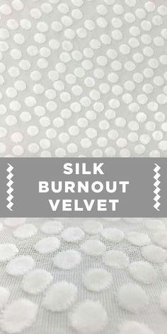 White Dot Silk and Rayon Burnout Velvet