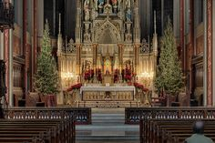 Saint Francis de Sales Oratory, in Saint Louis, Missouri, USA - high altar decorated for Christmas by msabeln, via Flickr