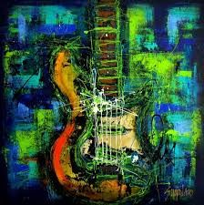 Resultado de imagen para oleos pinturas de guitarras
