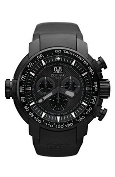 Zodiac 'Special Ops' Chronograph Rubber Strap Watch, 50mm available at #Nordstrom