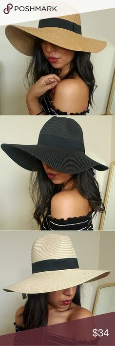 HANNAH BLACK TRIM HAT This hat is so chic! It will compliment any outfit you wear. Take on vacay, wear it to the beach. Hec, run those errands in style girl. Has a black band for extra chicness. It's one size fits most.    ☞SIZES AVAILABLE: One Size I.G: @JMAYORGA91   ❌❌❌PRICE FIRM❌❌❌ Accessories Hats