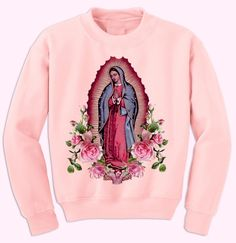 Stay blessed & protected everywhere ya go in this sweater version of our best selling t-shirt! Unisex fit, Runs a little big Baby Pink Cotton P...