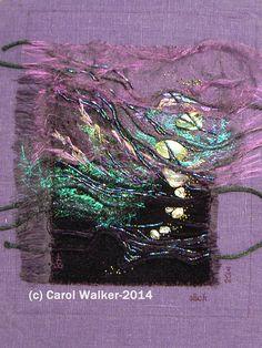 Just for inspiration no details that I could find. Textile Fiber Art, Textile Artists, Angelina Fibres, Fabric Embellishment, Embellishments, Creative Textiles, Textiles Techniques, Fabric Manipulation, Fabric Art