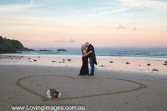 Sunset Wedding with eloping couple